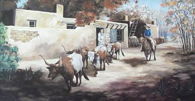 Hopi Indian Painting - A Taos Trail Ride by Wanda Dansereau