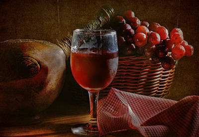 Tasting Photograph - A Taste Of The Grape by David and Carol Kelly