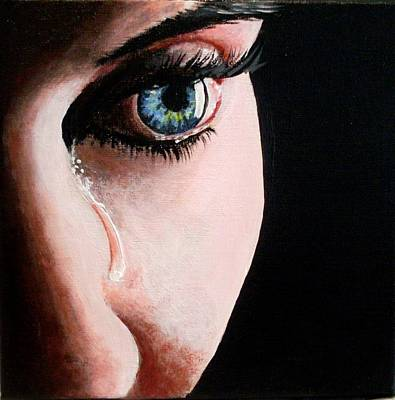 Painting - A Tear by Anne Gardner