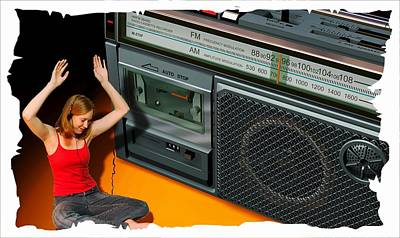 Photograph - A Teen And Her Radio by Bob Pardue