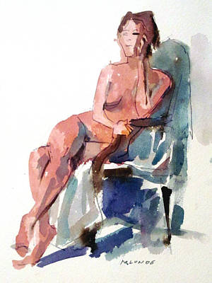 Painting - A Ten Minute Pose by Mark Lunde