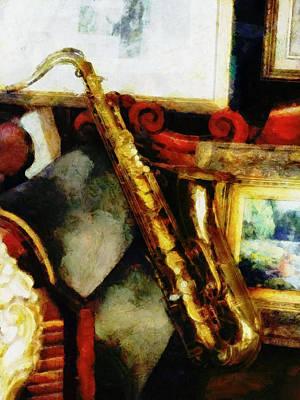 Saxaphones Digital Art - A Tenner Saxophone by Steve Taylor
