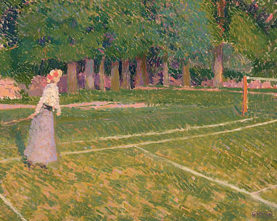 Net Painting - A Tennis Day by Mountain Dreams