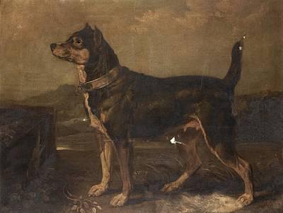 Dog In Landscape Digital Art - A Terrier In A Landscape by MotionAge Designs