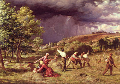A Thunder Shower, 1859 Art Print by James Thomas Linnell