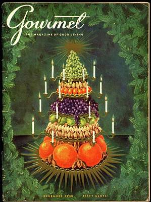 Photograph - A Tiered Christmas Centerpiece by Hilary Knight