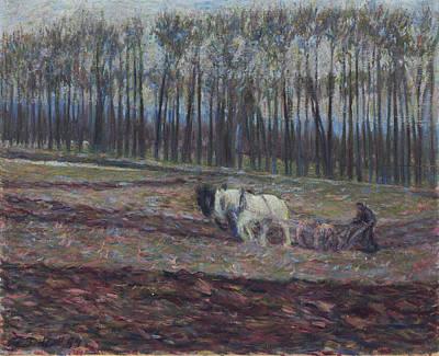 Tiller Painting - A Tiller Of The Soil by Theodore Earl Butler