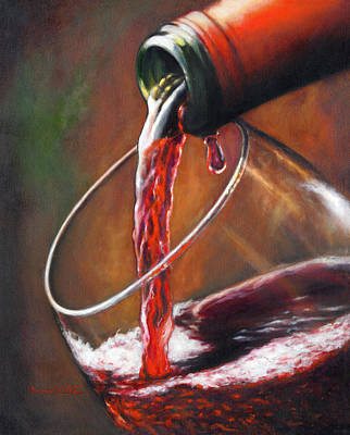Walsh Painting - A Time For Wine by Donna  Hillman Walsh