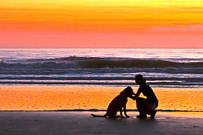 Pup Digital Art - A Time To Bond by Jim Finch