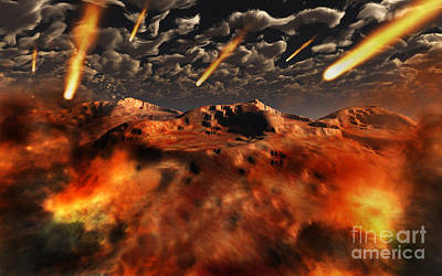 Destruction Digital Art - A Time When The Earth Was Being Formed by Mark Stevenson