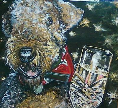 Painting - A Toast To Bailey by Alexandria Weaselwise Busen