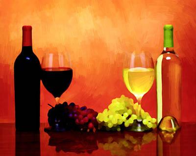 Wines Painting - Cheers To Good Taste by VRL Art