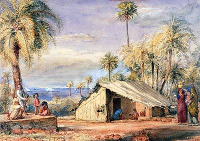 A Toddy-drawers Hut In A Grove Of Date Art Print