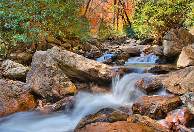 Photograph - A Touch Of Autumn At Skinny Dip Falls by Lynn Bauer