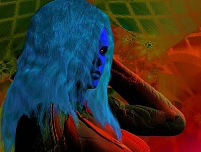 Digital Art - A Touch Of Blue by Nancy Pauling