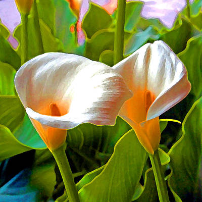 Digital Art - A Touch Of Color 4  A Lily  by Joseph Coulombe