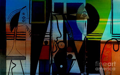 Picasso Mixed Media - A Touch Of Color by Marvin Blaine