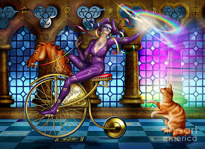 Jester Digital Art - A Touch Of Colour by Ciro Marchetti