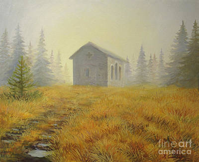 Misty Morning Painting - A Touch Of Faith by Kiril Stanchev