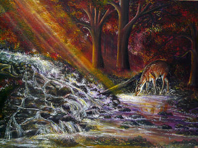 Acrylic Painting - A Touch Of Magic by Ann Marie Bone