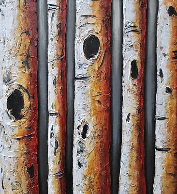 Grouping Mixed Media - A Touch Of Red II by Lori McPhee