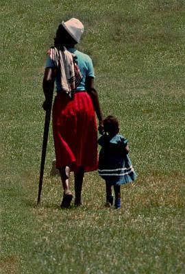 A Tough Walk In Kenya Art Print by Joe  Connors