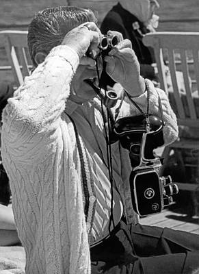 Skagway Photograph - A Tourist With His Gear by Underwood Archives