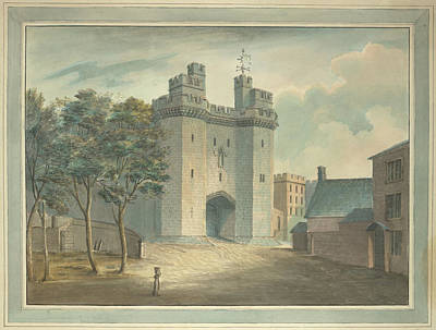 The Entrance Photograph - A Tower Of Lancaster Castle by British Library