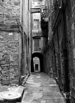 A Town In Tuscany 3 Bw Art Print by Mel Steinhauer