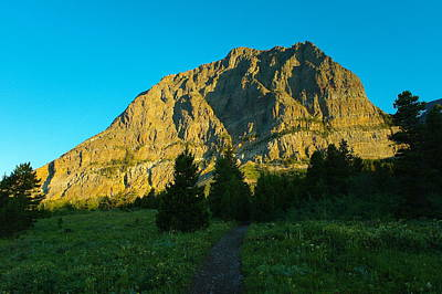 Rocks Photograph - A Trail To The Mountain by Jeff Swan