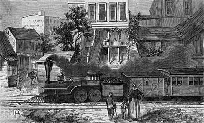 A Train Of The Camden & Amboy Art Print by Mary Evans Picture Library