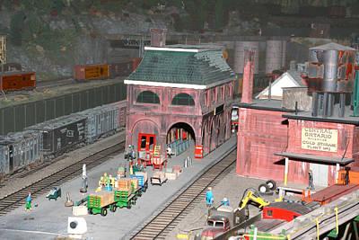 A Train Station Art Print by Hugh McClean