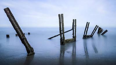 Groyne Photograph - A Tranquil Sea by Ian Hufton