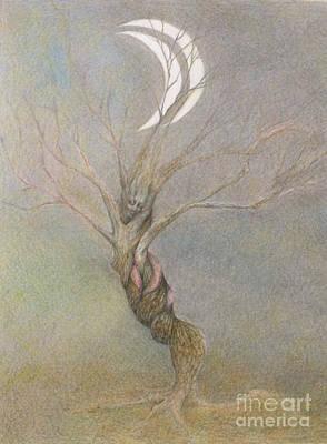 Drawing - A Tree by Chiyuky Itoga