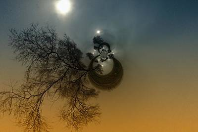 Disital Art Photograph - A Tree In The Sky by Jeff Swan