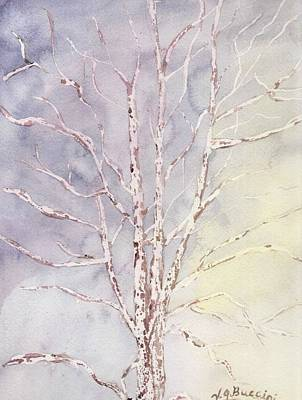 Painting - A Tree In Winter by Vickie G Buccini