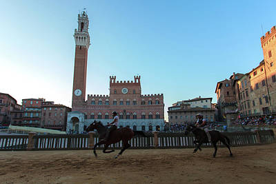 On The Move Photograph - A Trial Run Of The Famous Palio Di Siena by Tu Xa Ha Noi