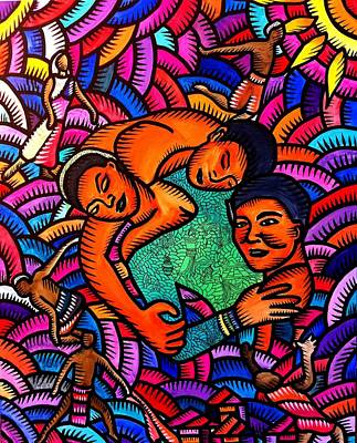 Painting - A Triangle Of Love 1 by Marconi Calindas