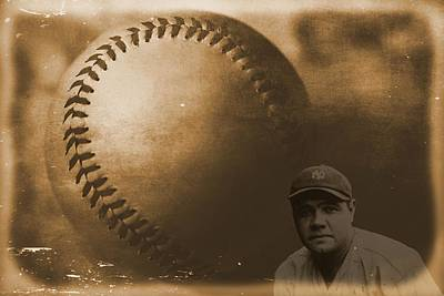 Ny Yankees Mixed Media - A Tribute To Babe Ruth And Baseball by Dan Sproul