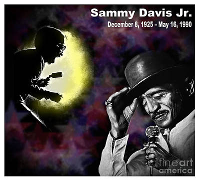African-american Digital Art - A Tribute To Sammy David Jr by Jim Fitzpatrick