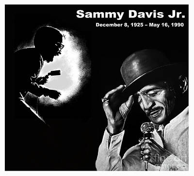 African American Digital Art - A Tribute To Sammy Davis Jr by Jim Fitzpatrick