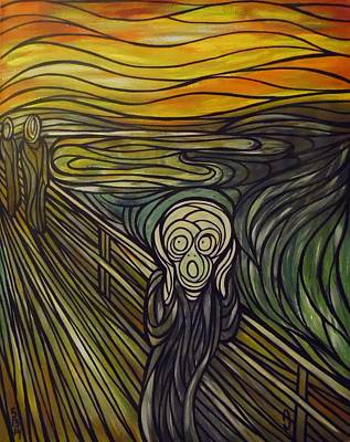 A Tribute To The Scream Art Print by Anthony Schwed