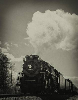 A Trip In The Past-the 765 Steam Locomotive Art Print
