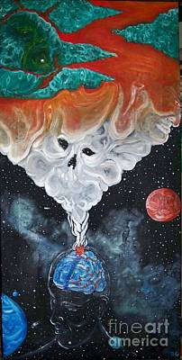 Insanity Painting - A Trip Through My Mind by Rick  Gazdik