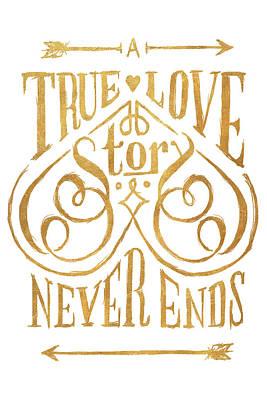 A True Love Story Art Print by South Social Studio