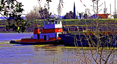 Photograph - A Tug On Steamboat Slough by Joseph Coulombe