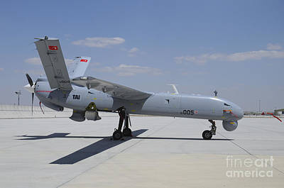 Uca Photograph - A Turkish Air Force Tai Anka Unmanned by Riccardo Niccoli