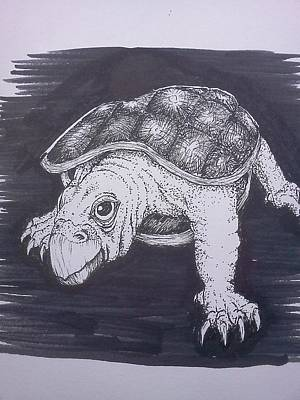 Painting - A Turtle Named Puppy by Richie Montgomery