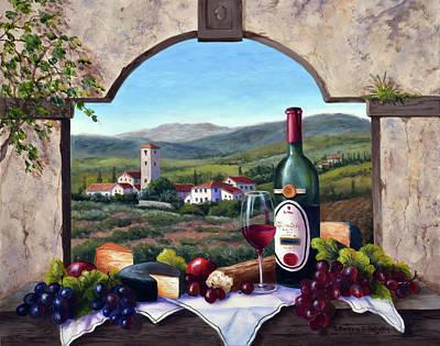 Grapes Painting - A Tuscany Vista by Barbara Felisky