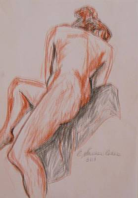 Drawing - A Twisted Nude by Esther Newman-Cohen